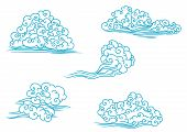 Curly clouds set