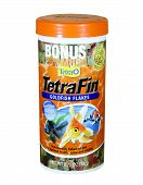 Container Of Tetra Fin Goldfish Flakes