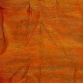 Textured Orange Wrinkled Detailed Background