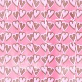 Pink and Hearts Pattern Backrgound