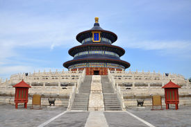 pic of taoism  - Hall of Prayer for Good Harvests in Temple of Heaven, Beijing, China.  Temple of Heaven: an Imperial Sacrificial Altar in Beijing is UNESCO World Heritage Site since 1998. - JPG