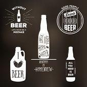 Vintage Beer Label T-shirt Graphic Set