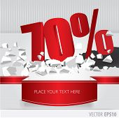 Red 70  Percent Discount On Vector Cracked Ground On White Background
