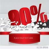 Red 90  Percent Discount On Vector Cracked Ground On White Background