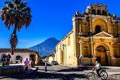 Hermano Pedro Church & Agua Volcano, Antigua, Guatemala