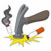 An image representing the breaking of the bad habit of smoking.