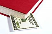 Red Book With Fictitious Hundred Dollar Bill