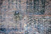 Very Old Worn Out Brick Wall