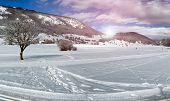 Snowy Landscape Abruzzi, Italy