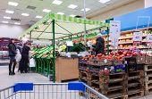 Fresh Vegetables Ready For Sale In Perekrestok Samara Store, Russia