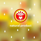 Emblem of natural, environmentally friendly product.Plant to plant, harvest.