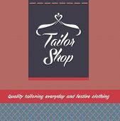 Vector logo and background for salon tailoring