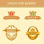 Set of logos for the bakery.