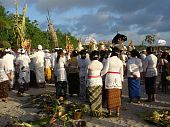 Hindu Pilgrims On The Beach
