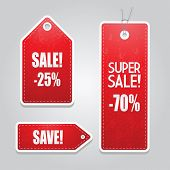 Red price tags set