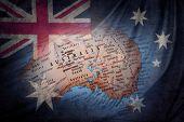 Australian flag and globe composite