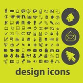design, website, internet icons, signs, illustrations on background set, vector