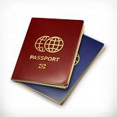 Passport, vector illustration