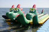 Attraction On The Water In The Form Of A Dragon
