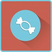 Candy vector flat icon