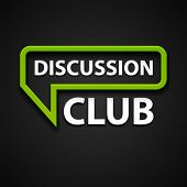 vector discussion club icon