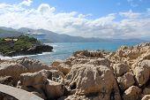 Rocks, mountains & seascape
