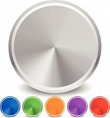 foto of conic  - Eps 10 vector illustration of Blank Colorful metallic circle set - JPG