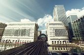 Canary Wharf docklands station in London, UK