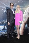 LOS ANGELES - FEB 2: Steven Mnuchin, Louise Linton at the 'Jupiter Ascending' Los Angeles Premiere at TCL Chinese Theater on February 2, 2015 in Hollywood, Los Angeles, California