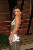 WEST HOLLYWOOD - MAR 2:: Miranda Kerr at the 2014 Vanity Fair Oscar Party on March 2, 2014 in West Hollywood, California