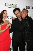 LOS ANGELES - FEB 3:  Annie Wersching, Stephen Full, Titus Welliver at the