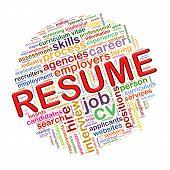 Word Tags Circular Wordcloud Of Resume
