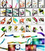 Mega collection of business corporate backgrounds, flyer, brochure design template