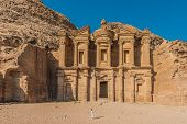 The Monastery Al Deir in Nabatean Petra Jordan middle east