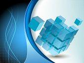 Blue Tech business design illustration