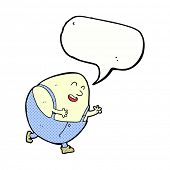 pic of nursery rhyme  - cartoon humpty dumpty egg character with speech bubble - JPG