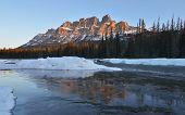 Castle Mountain Sunrise, Banff National Park, Canada
