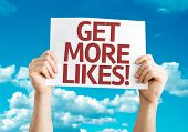 Get More Likes card with sky background