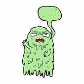 pic of grossed out  - gross cartoon ghost with speech bubble - JPG