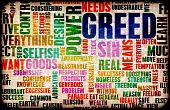 image of character traits  - Greed one of the Seven Deadly Sins Concept - JPG