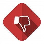 dislike flat icon thumb down sign