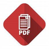 pdf flat icon pdf file sign
