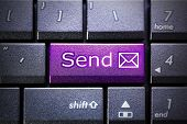 Email send button on the computer keyboard