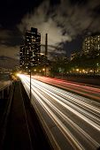 FRD highway in New York city by night