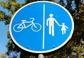 pic of street-walker  - A road sign for bikes and pedestrians - JPG