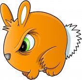 Angry Bunny Rabbit Vector Illustration Art