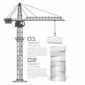 Crane loading boxes