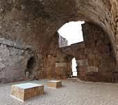 pic of crusader  - The ancient Byblos Crusader Castle on the Lebanese coast - JPG