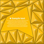 Vector background with triangles. Yellow