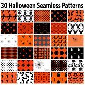 30 Halloween Seamless  Patterns